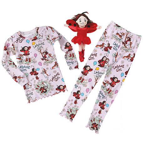 Ladybug Girl Gift Set: Pajamas and Plush
