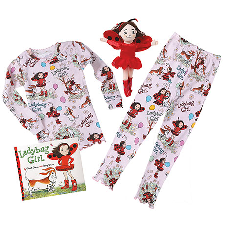 Ladybug Girl Gift Set: Pajamas, Book and Plush