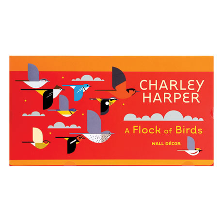 Charley Harper's Flock of Birds Wall Stickers