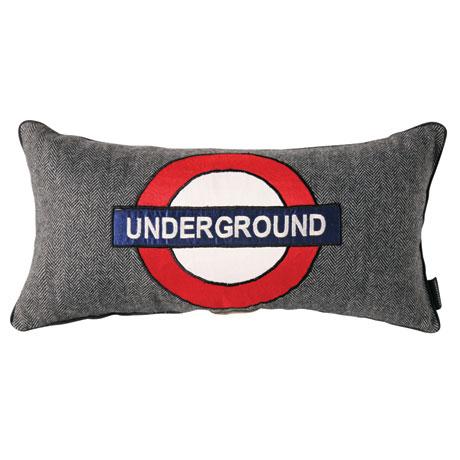 London Underground Tweed Pillow