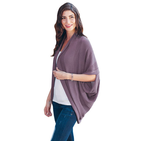 Silky Knit Cocoon Shrug