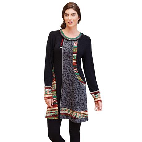 Folkloric Sweater Dress