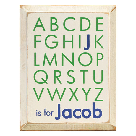 Personalized ABCs Name Plaque