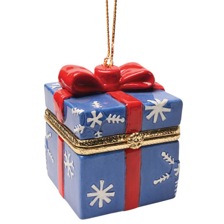 Porcelain Surprise Christmas Gift Box Ornaments