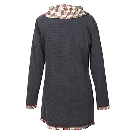 Parsley & Sage Fall Leaves Print Cowlneck Tunic