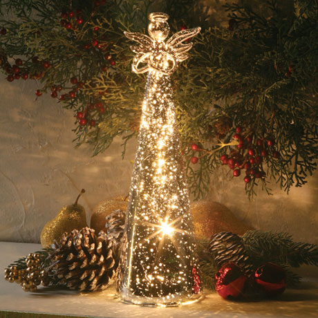 Lighted Mercury Glass Angel