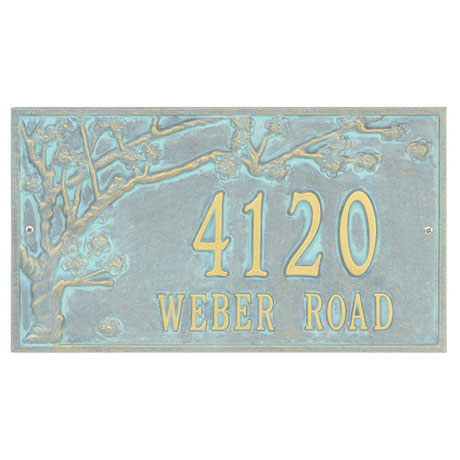Personalized 2-Line Cherry Blossoms Address Sign