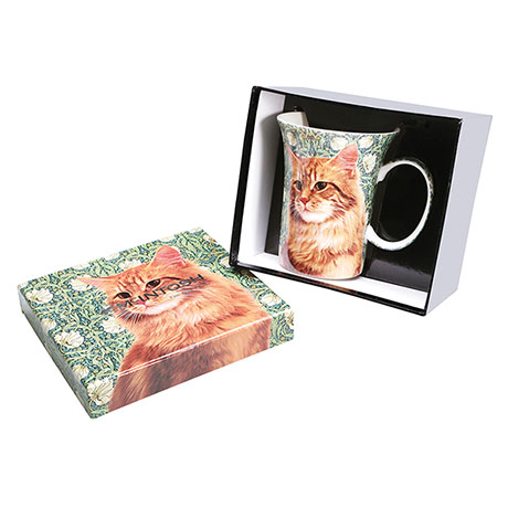 Feline Friends Orange Tabby Cat Fine Bone China Mug