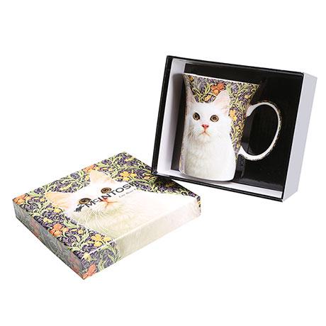 Feline Friends White Cat Fine Bone China Mug