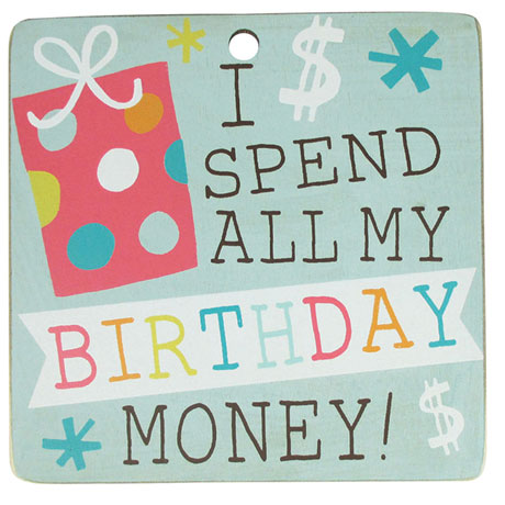 Countdown Calendar - It's My Birthday/I Spend All My Birthday Money