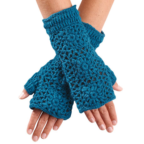 Hand-Crocheted Fingerless Gloves