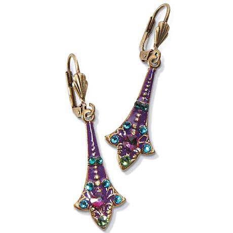 Crystal Hearts Drop Earrings