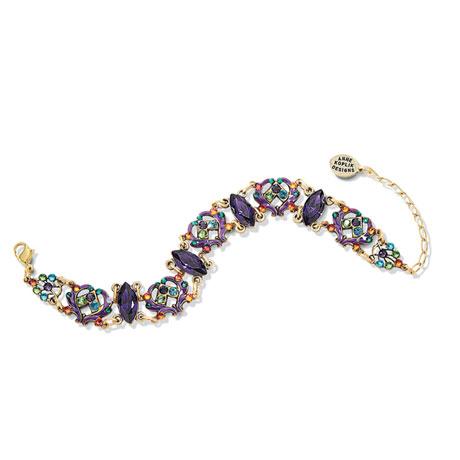Crystal Hearts Bracelet