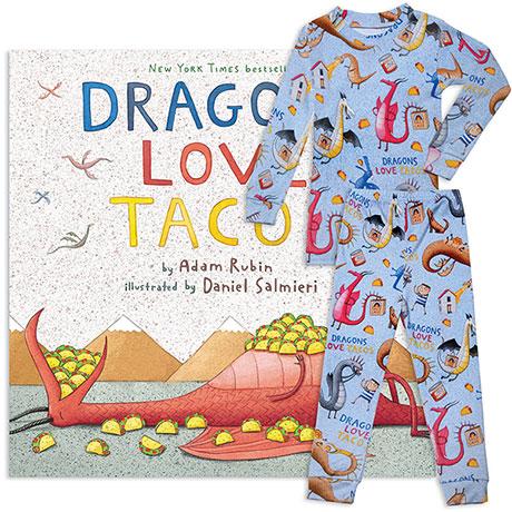 Dragons Love Taco Book and Pajamas Gift Set