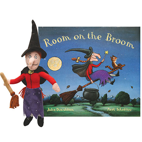 Room on a Broom Book and Plush Witch Gift Set