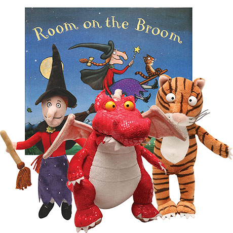 Room On Broom Book with Witch, Cat and Dragon Gift Set