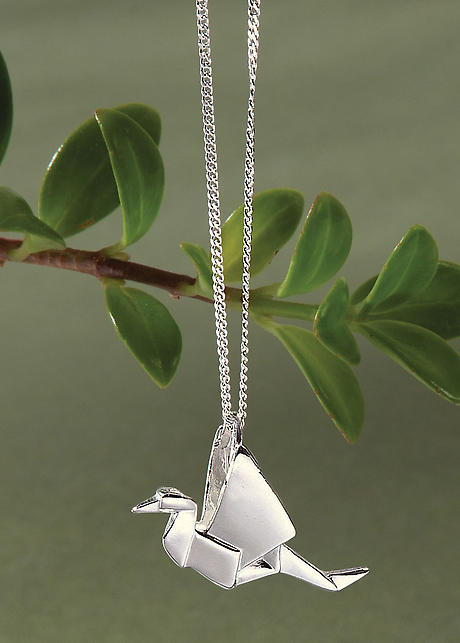 Origami Cranes Necklace