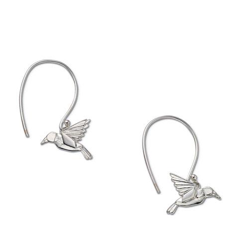 Origami Hummingbird Earrings