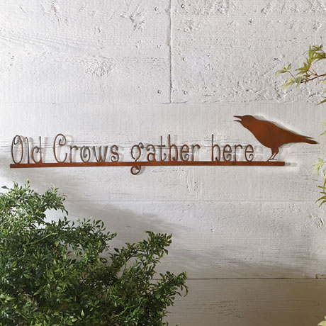 Old Crows Gather Here Wall Art