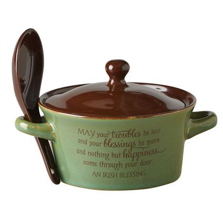 Irish Blessing Stoneware Dish