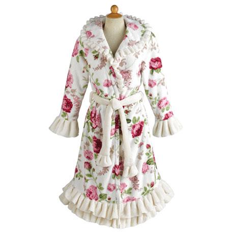 Victorian Roses Plush Robe