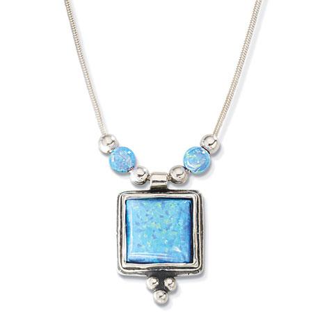Square-Cut Opal Necklace