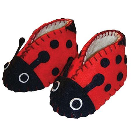 Zooties Baby Booties - Ladybugs