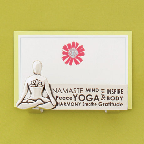 Yoga Business Card Holder