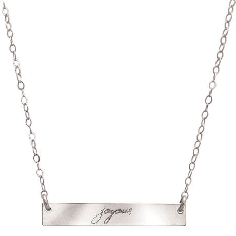 Message Bar Necklace