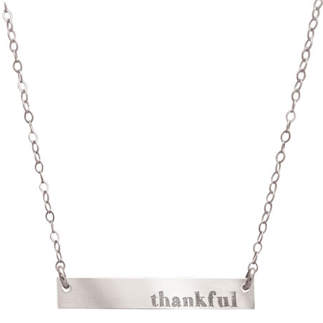 Message Bar Necklace