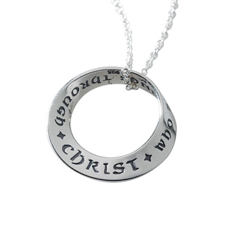 Philippians 4:13 Mobius Necklace