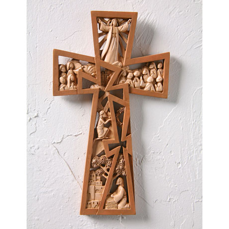 Christ Is Risen Wall Cross