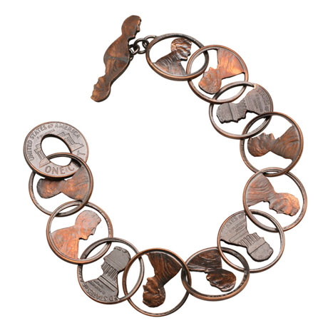Abe Chained Penny Bracelet