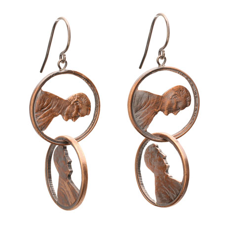 Abe Double Drop Penny Earrings