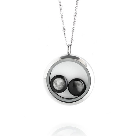 Moonglow Lovers in a Locket Necklace