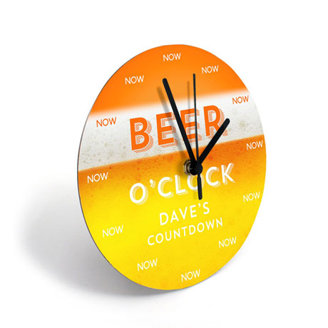 Personalized Beer Clock