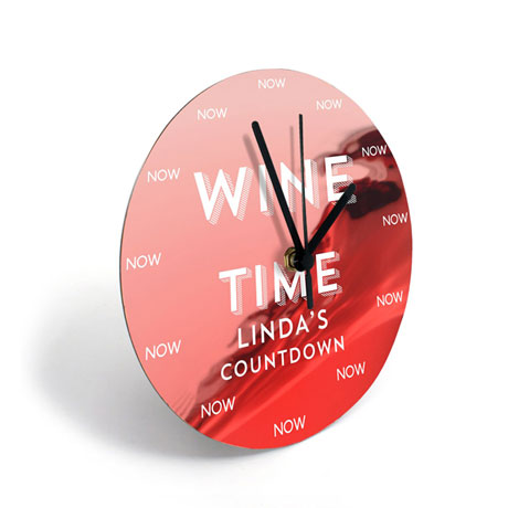 Personalized Wine Clock