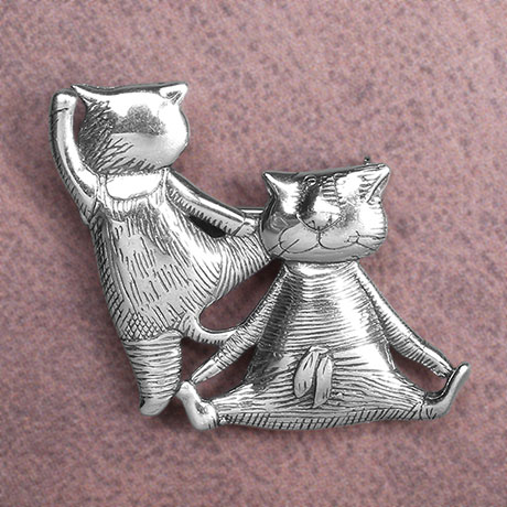 Edward Gorey Two Cats at the Ballet Barre Pin