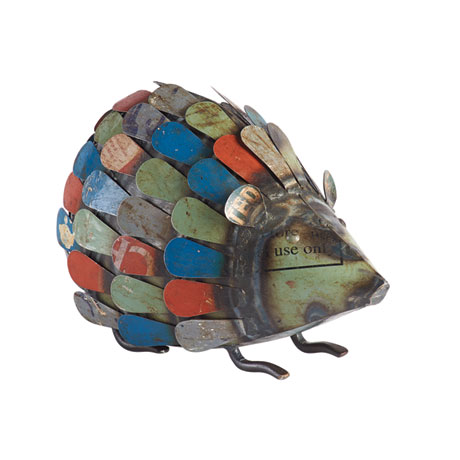 Garden Hedgehog in Recycled Metal