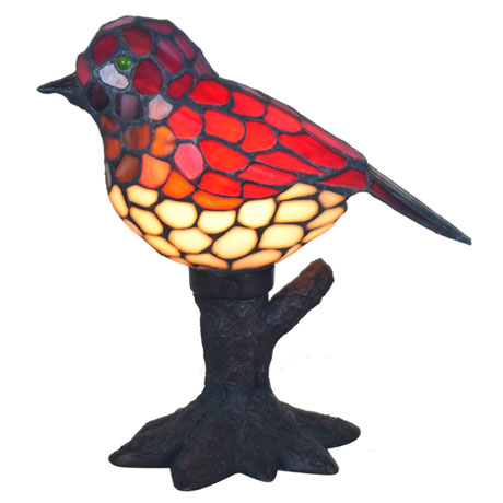 Red Song Bird Accent Lamp