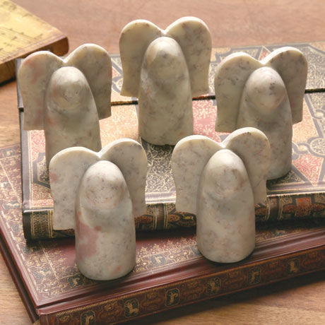 Five Soapstone Angels