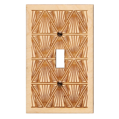 Engraved Wood Switch Plate - Toggle