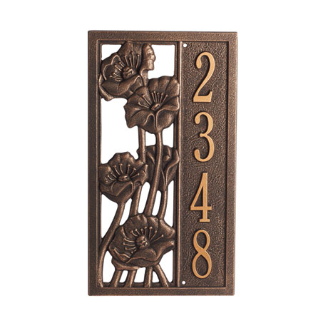 Poppies Custom Address Plaque