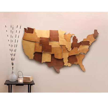Dimensional Metal USA Wall Art