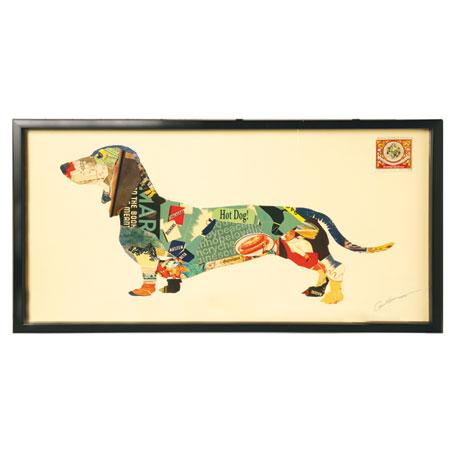 Handmade Framed Dachshund Collage