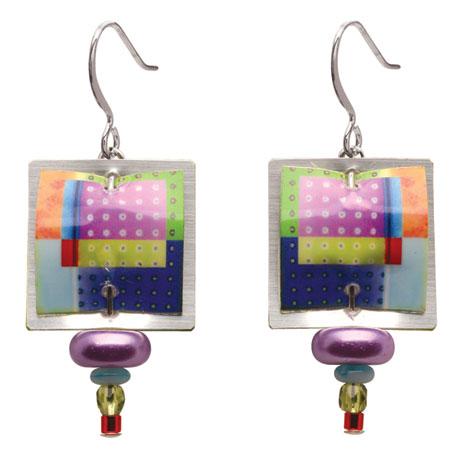 Singerman & Post Rainbow Boxes Earrings