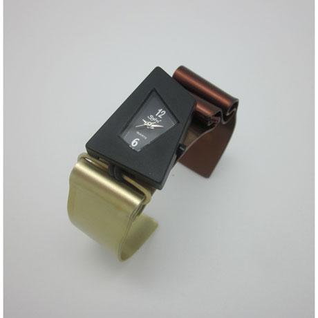 Aluminum Art Cuff Bracelet Watch