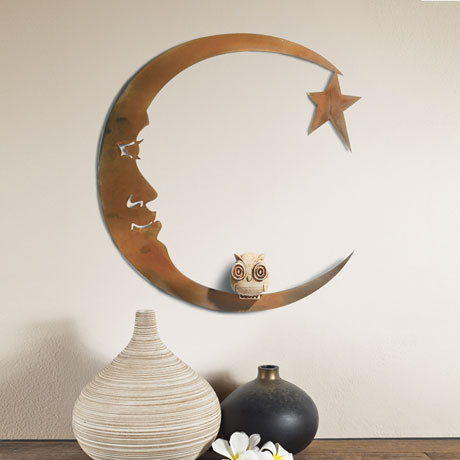 Moon And Owl Wall Art