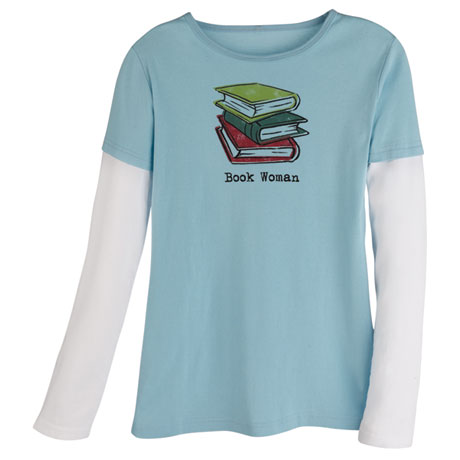 Book Woman Long Sleeve T-Shirt