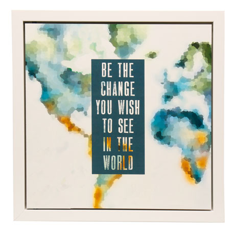Be the Change Secret Message Wall Art